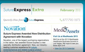 Suture Express eNewsletter, 2012