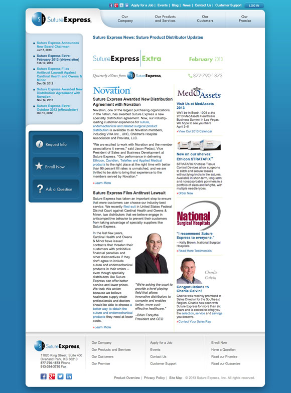 Suture Express eNews web version