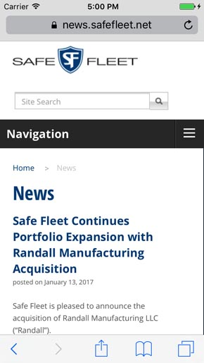 Safe Fleet News