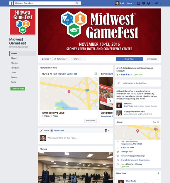 Midwest GameFest Facebook Page