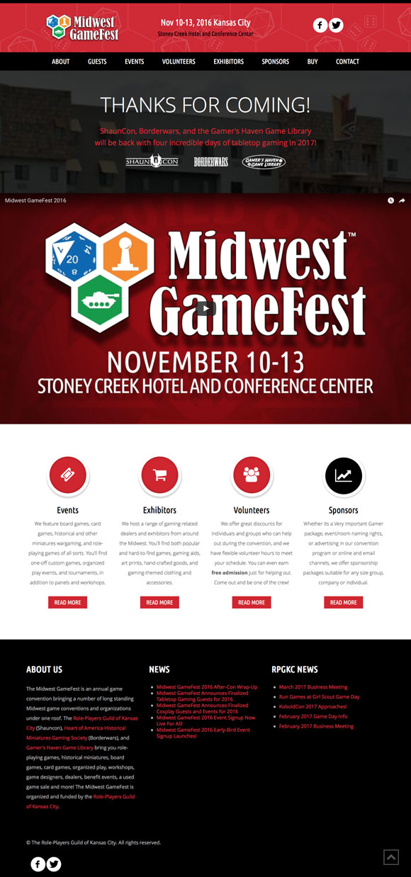 Midwest GameFest Home