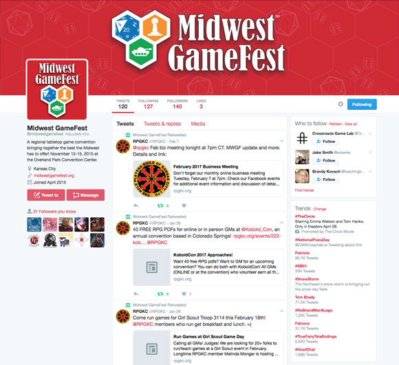 Midwest GameFest Twitter Page